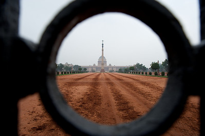 The palace of the President of India, New Delhi.