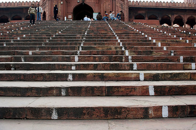 Entrance to the Jama Masjid mosque, Old Delhi.