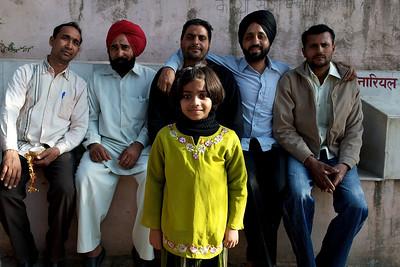 Gentlemen and little girl from Punjab, Haridwar.