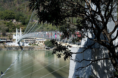 Bridge over the Ganges, Rishikesh.