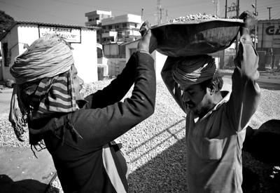 Street workers, Haridwar.