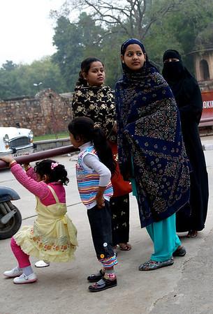 Outside Qutab Minar, New Delhi.