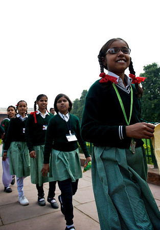 School girls, New Delhi.