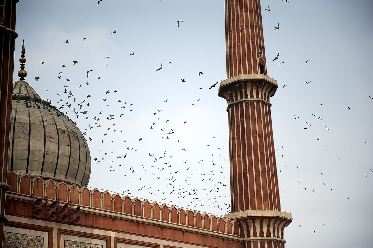 The Jama Masjid mosque, Old Delhi.