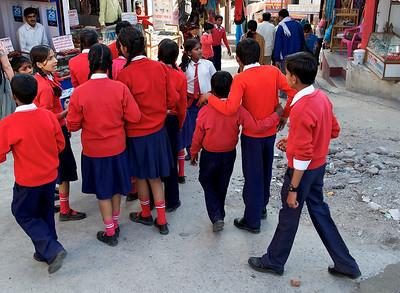 School kids, Rishikesh.