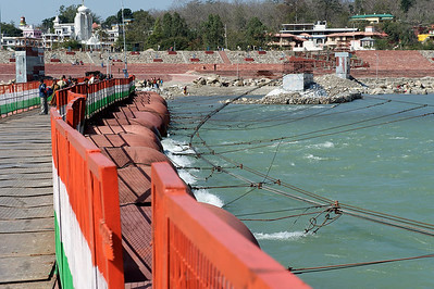 Pontoon bridge over the Ganges, Rishikesh.