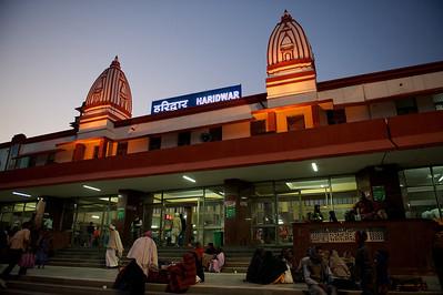 Haridwar train station.