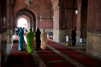 The Jama Masjid mosque, Old Delhi.