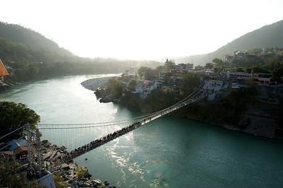 The Lakshman Jhula bridge, Rishikesh.