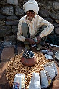 Peanut vendor, Rishikesh.