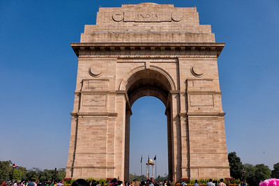 Indiaa Gate--The foundation stone of India Gate was laid by His Royal Highness, the Duke of Connaught in 1921 and it was designed by Edwin Lutyens.