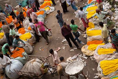 Flower Market near Hooghly River, Kolkata