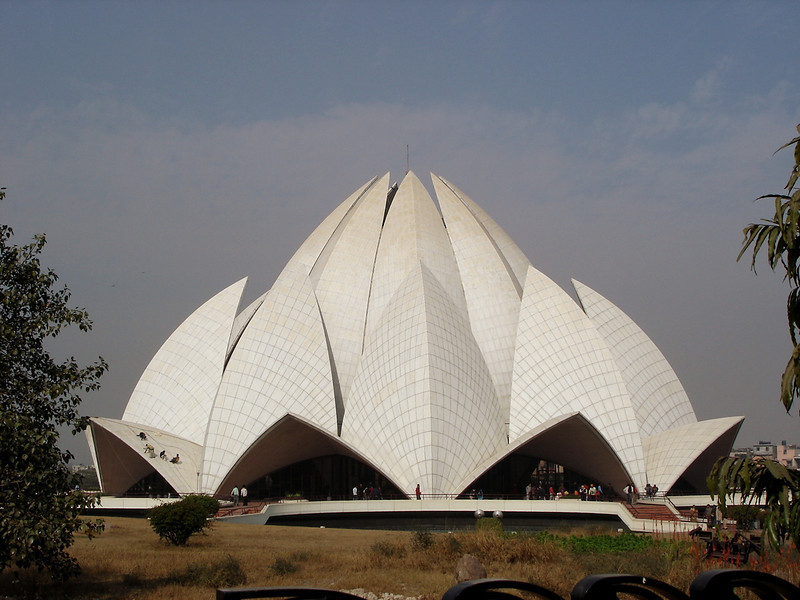 01/19/06: This is the Lotus Temple which resembles the shape of a lotus flower.