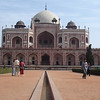 Instead of a wide reflection pool to that of the Taj Mahal, the ones found here were very narrow.