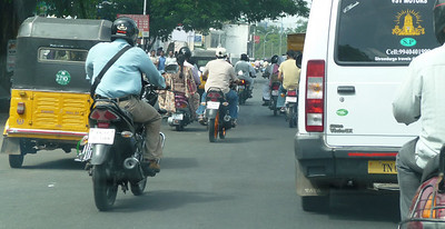 Shot of the traffic from the car, this really doesn't do justice to the frenetic chaos
