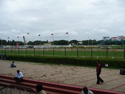 Sunday at the Racetrack across from the hotel.