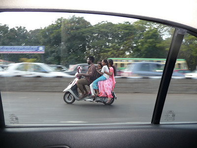 Family of 4 on a Scooter