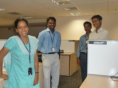 four of the India Unix team members