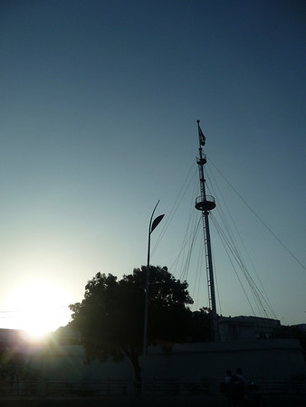 Fort St. George boasts the country's tallest flagpole at 150'