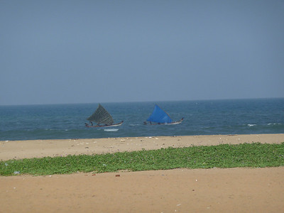 some sailboats in the Bay of Bengal