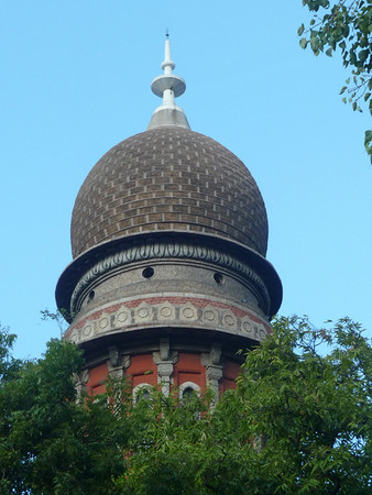 Domed tower of the Madras High Court buildings.