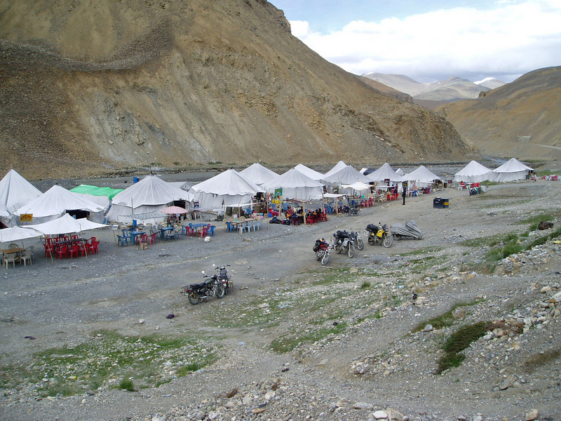 Pang. Manali - Leh road. Day 2 overnight stop