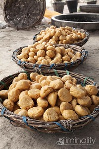 Sugar ready to sell. Balls are crumbled into tea, used in baking, or eaten straight as a sweet treat.