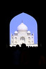 Taj Mahal as seen through the main gate.