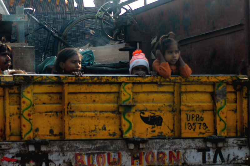 Our driver, Seniel Thapku, thought that this family was probably moving.