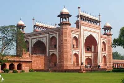 Main gate at Taj Mahal.