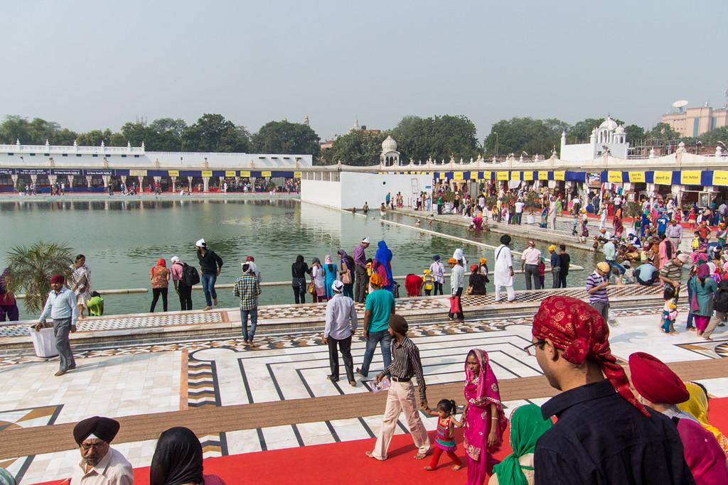 Ritual pool, Sikh temple.
