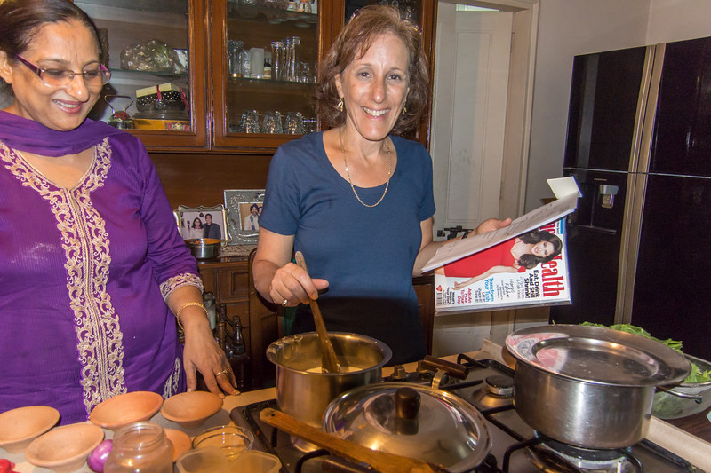 We took a cooking class in Delhi, lots of fun.