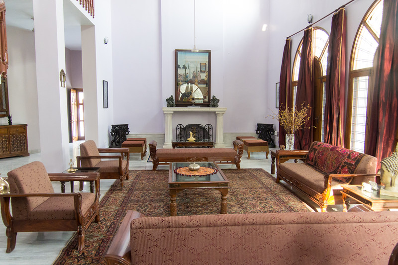 Living room of home where Lisa stayed with Chand..in Udaipur.