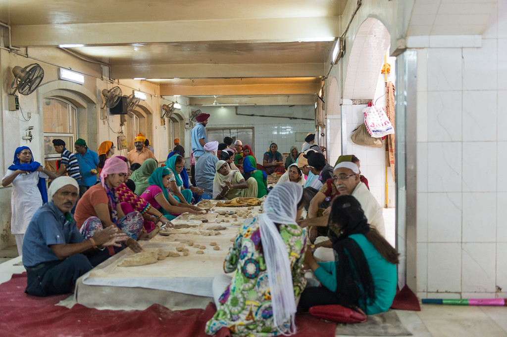 The temple serves thousands of free meals every single day...all hand made.