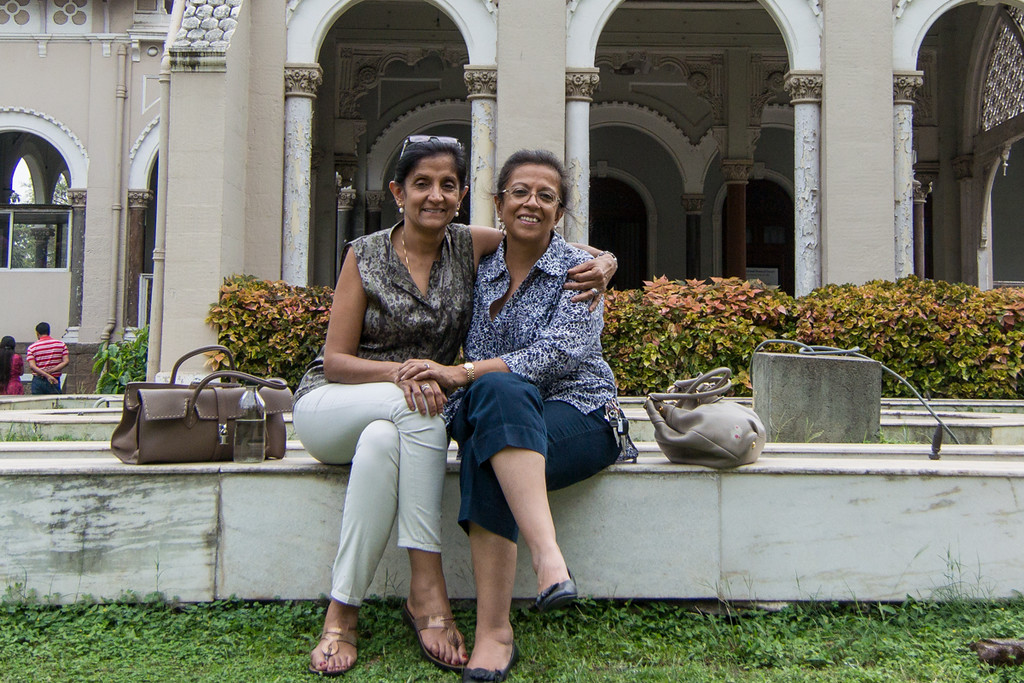 Chand and her sister, taken in Pune.