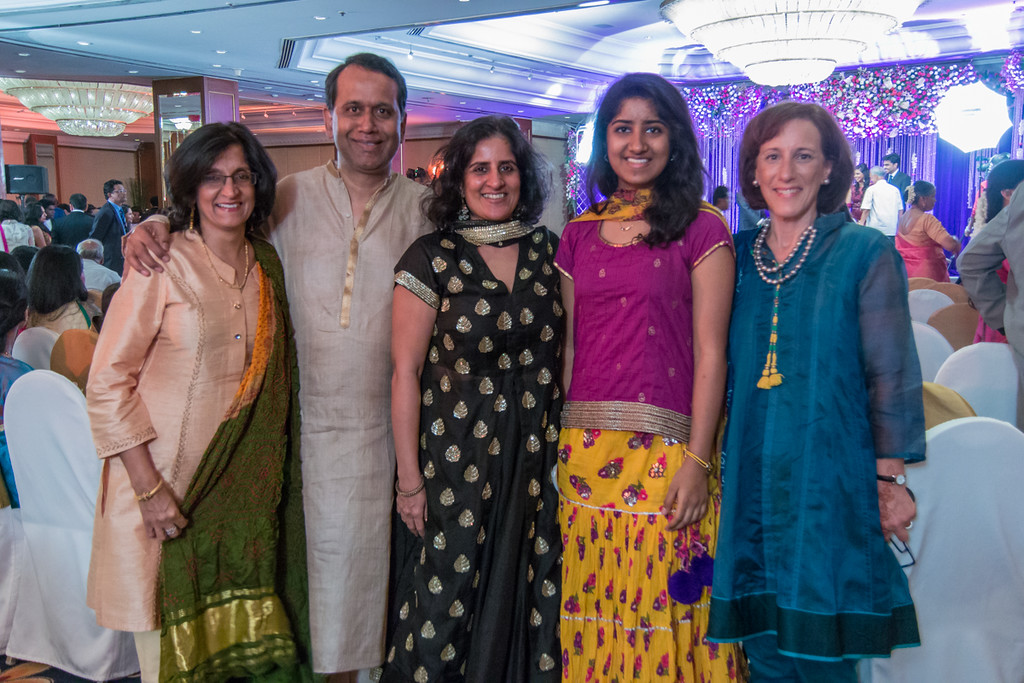 Lisa, Chand and friends at a Mumbai wedding. Not sure they were invited but they looked the part!
