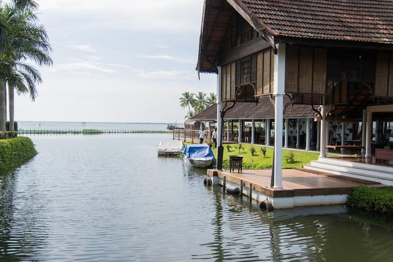Vembanad lake in Kerala..