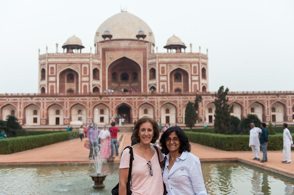 Lisa and Chand at Qutub Minar, Delhi.