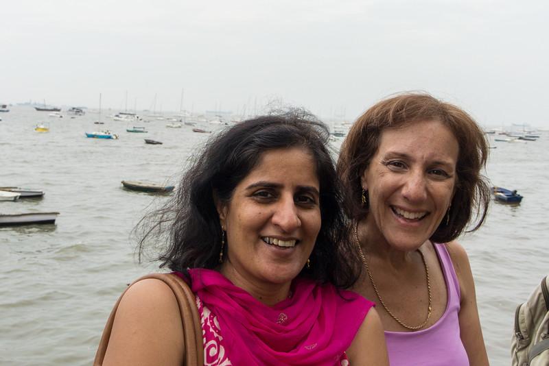 Lisa and friend in Mumbai..