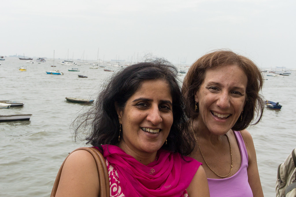 Lisa and friend in Mumbai..