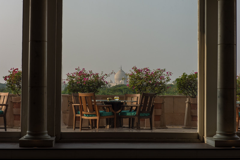 Nice view of the Taj, in Agra.