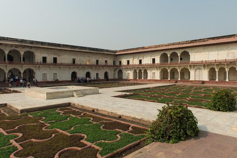 Agra Fort gardens.