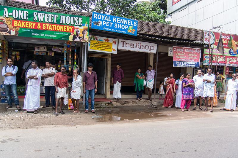Street scene in Kerala...always lots happening right at street side...