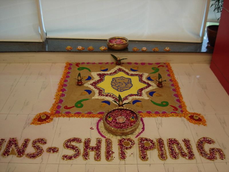 "101906: The WNS Shipping department won ""first place"" in the Diwali Art Contest."