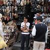 Shoe seller, Paharganj market, Delhi