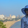 """Marine Drive, known as the """"Queens Necklace,"""" in Mumbai"""