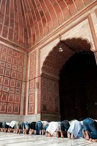 Praying at the Jama Masjid
