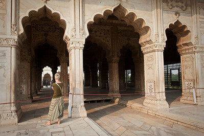 Inside the Red Fort compound