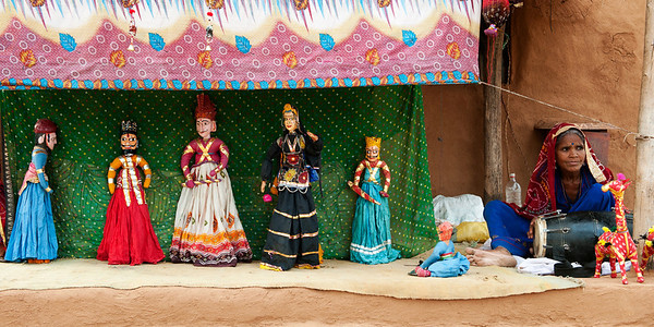 Kathputli is a string puppet theater, native to Rajasthan