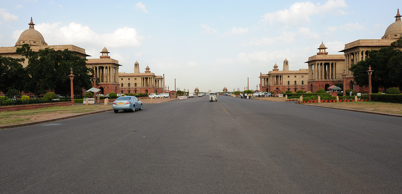 Situated on Raisina Hill, New Delhi, India, the Secretariat Building is a set of two buildings on the opposite side of Rajpath that are home to some of the most important ministries of the Government of India.<br /> The Secretariat Building houses the following ministries:<br /> Ministry of Defence (MoD)<br /> Ministry of Finance (MoF)<br /> Ministry of External Affairs (MEA)<br /> Ministry of Home Affairs (MHA)<br /> Prime Minister Office (PMO)<br /> The Secretariat Building consists of two buildings: the North Block and the South Block. Both the buildings flank the Rashtrapati Bhavan.<br /> The South Block houses the Prime Minister Office, Ministry of Defence and the Ministry of External Affairs<br /> The North Block primarily houses the Ministry of Finance and the Home Ministry